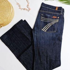 7 For All Mankind Dark Wash Boot Cut Dojo Jeans 27